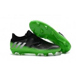 Nuove Scarpe Da Calcio Adidas Messi 16+ Pureagility Fg Grigio Scuro Argento Verde