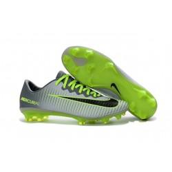 Nuovi Scarpini Calcio - Nike Mercurial Vapor 11 FG Platino Puro Nero Verde