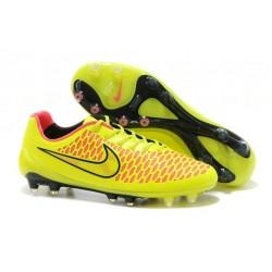 Nike Magista Opus FG Scarpa da calcio per terreni duri - Giallo Rosa Nero