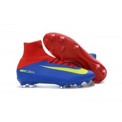 2016 Nuove Scarpa da calcio Nike Mercurial Superfly V FG Blu Rosso Giallo