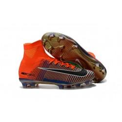 2016 Nuove Scarpa da calcio Nike Mercurial Superfly V FG Nike Mercurial x EA Sports Arancione Verde Blu Nero
