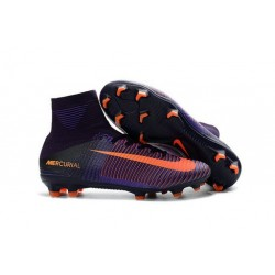 Scarpa da calcio Nike Mercurial Superfly V FG Uomo Viola Dynasty Agrume Acceso Hyper Grape