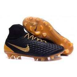Nike Magista Obra 2 FG Scarpette da Calcio Uomo Nero Oro