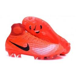 2016 Scarpe da calcio Nike Magista Obra II Fg Arancione Nero