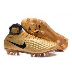 2016 Scarpe da calcio Nike Magista Obra II Fg Nero Oro