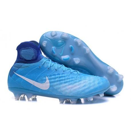 Nike Magista Obra 2 FG Scarpette da Calcio Uomo Blu Bianco
