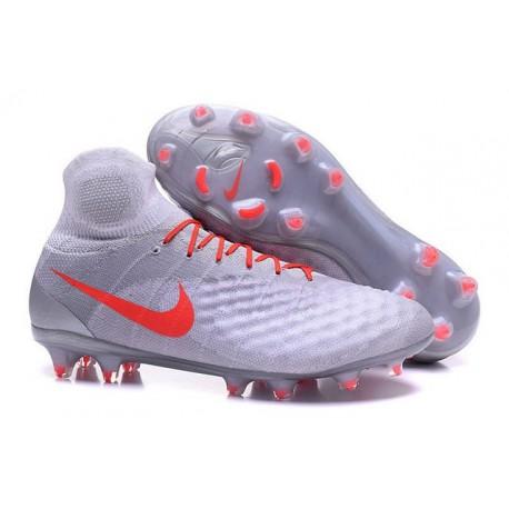 2016 Scarpe da calcio Nike Magista Obra II Fg Grigeo Arancione