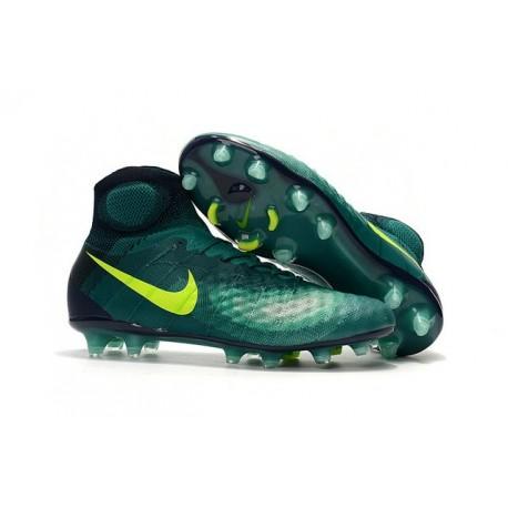 Nike Magista Obra 2 FG Scarpette da Calcio Uomo Rio Teal Volt Ossidiana Giada Clear