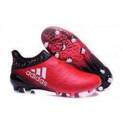 Nuove Adidas Scarpe Calcio X 16+ Purechaos FG - Rosso Bianco Nero
