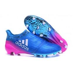Adidas X 16+ Purechaos FG - Nuovi Scarpette da Calcio Blu Rosa Bianco