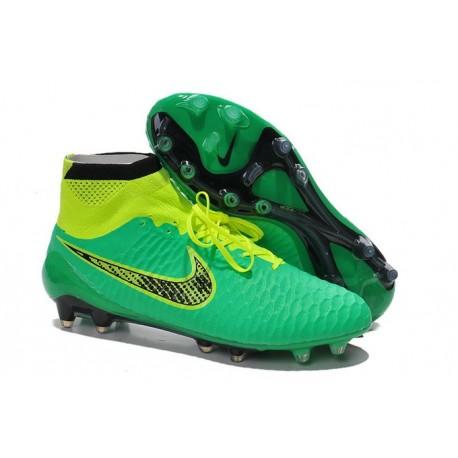 Scarpe calcio Nike Magista Obra FG - Uomo - Verde Volt Nero
