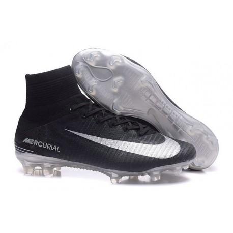 Scarpa da calcio Nike Mercurial Superfly V FG Uomo Argento Nero