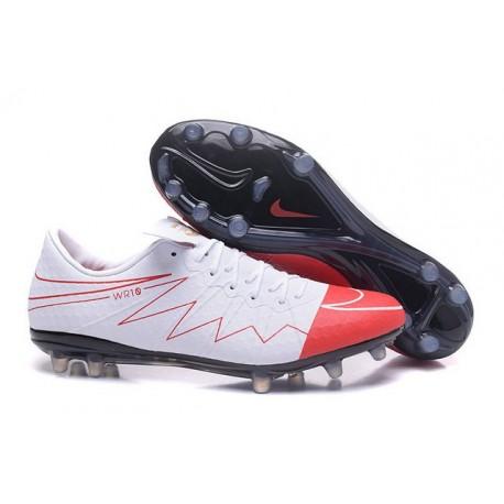 Scarpa da calcio Nike HyperVenom Phinish II FG Uomo Wayne Rooney Bianco Rosso Nero