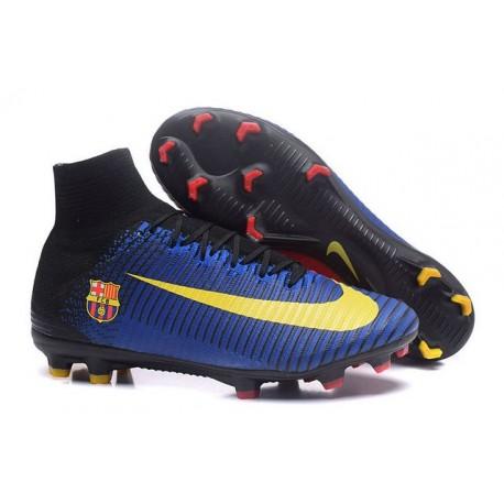 Scarpa da calcio Nike Mercurial Superfly V FG Uomo Barcelona FC Blu Rosso Giallo Nero