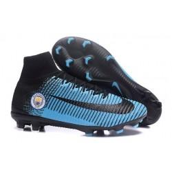 Scarpa da calcio Nike Mercurial Superfly V FG Uomo Manchester City FC Nero Blu