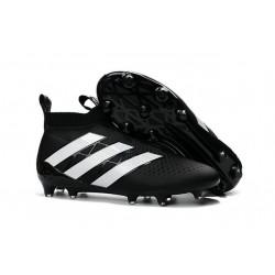 Nuovi Scarpette da Calcio Adidas Ace 16+ Purecontrol FG / AG Nero Bianco