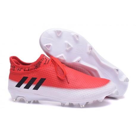 Scarpe Da Calcio Adidas Messi 16+ Pureagility Fg/Ag Uomo Bianco Nero Rosso