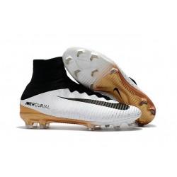 Scarpa da calcio Nike Mercurial Superfly V FG Uomo Bianco Oro Nero