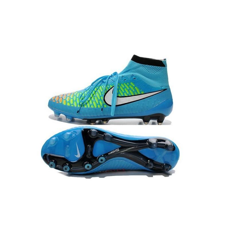 e50a163e9449d ... get 2015 scarpe calcio nike magista obra fg blu rosso verde nero f2640  b8b74