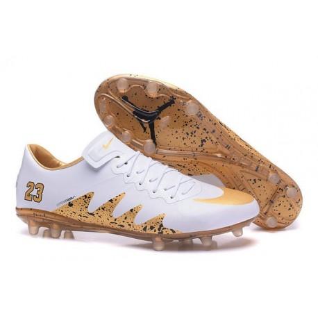 Scarpa da calcio Nike HyperVenom Phinish II FG Uomo Jordan Bianco Oro