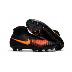 Nike Magista Obra 2 FG Scarpette da Calcio Uomo Nero Arancione