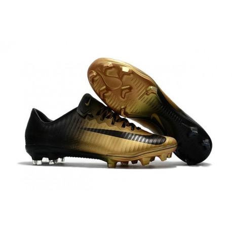 Scarpe Calcio Nike Mercurial Vapor 11 FG CR7 Oro Nero
