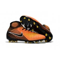 Scarpette da Calcio Nike Magista Obra 2 FG Arancione Giallo Nero