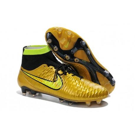 Scarpe calcio Nike Magista Obra FG - Uomo - Oro Volt Nero