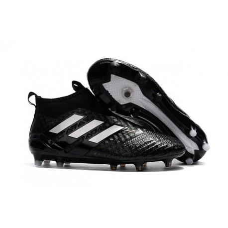 Scarpette da Calcio Adidas Ace 17+ PureControl FG Nero Bianco