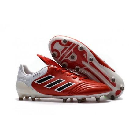 2017 Adidas Copa Scarpe 17.1 FG Rosso Nero Bianco