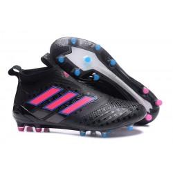Scarpe da Calcio 2017 Adidas ACE 17+ Purecontrol FG Nero Rosa Shock Blu