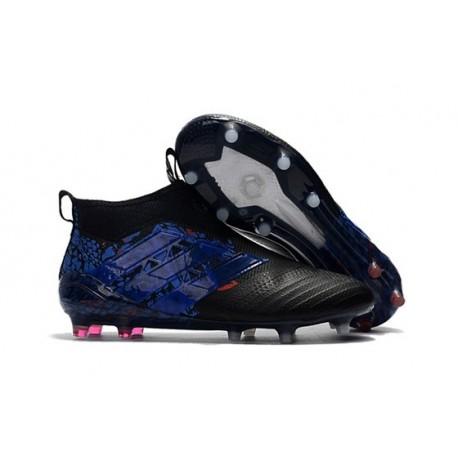 Scarpa da Calcio Adidas ACE 17+ Purecontrol FG Drago Nero Blu