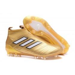 Scarpe da Calcio 2017 Adidas ACE 17+ Purecontrol FG Oro Bianco