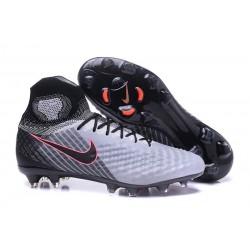 Scarpe Calcio Nike Alte Magista Obra II FG Grigio Nero