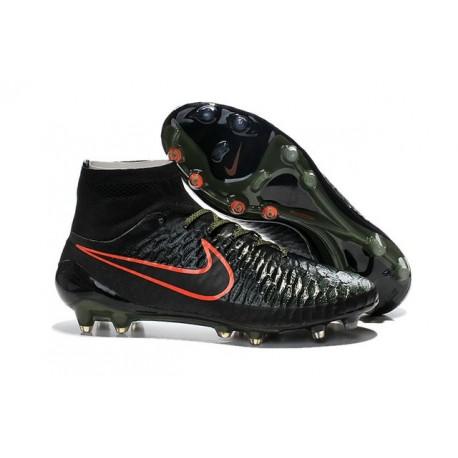Nuove Nike Magista Obra Fg, Scarpe da calcio uomo Nero Rough Green Cremise Hyper