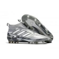 Nuove Adidas Calcio ACE 17+ Mastercontrol FG Per Uomo Grigio Bianco Nero