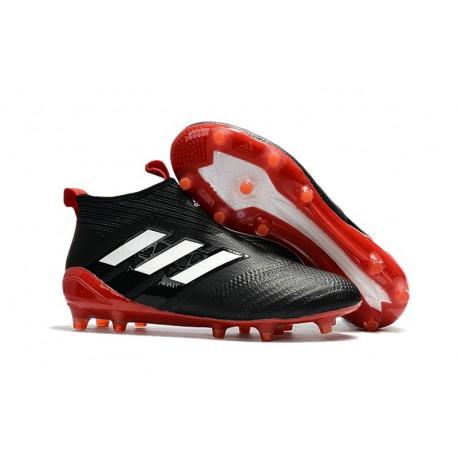 Scarpa da Calcio Adidas ACE 17+ Purecontrol FG Nero Bianco Rosso