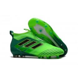 Scarpa da Calcio Uomo Adidas Calcio Adidas ACE 17+ Purecontrol FG Champagne Verde Solar Nero Verde