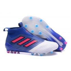Scarpa da Calcio Adidas ACE 17+ Purecontrol FG Blu Rosso Bianco