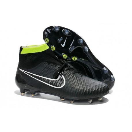 Nuove Nike Magista Obra Fg, Scarpe da calcio uomo Nero Bianco Volt