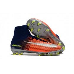 Nuove Scarpa da calcio Nike Mercurial Superfly V FG Argento Arancione Blu