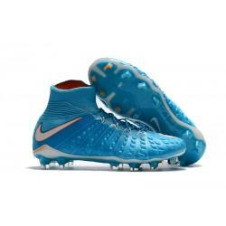 Nuove Scarpe da Calcio 2017 - Uomo Nike Hypervenom Phantom III Blu Bianco Arancione FG