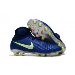 Nuova Nike Magista Obra II FG 2017 Scarpe da Calcio Blu Verde