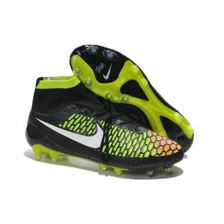 Nuove Nike Magista Obra Fg, Scarpe da calcio uomo Nero Bianco Rosso Verde