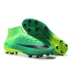 Nuove Scarpa da calcio Nike Mercurial Superfly V FG Nero Verde