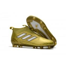 Scarpa da Calcio Adidas ACE 17+ Purecontrol FG Oro Bianco