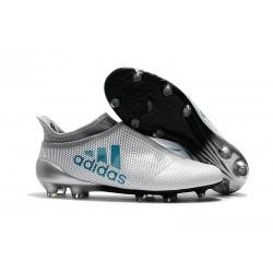 2017 Adidas X 17+ Purespeed FG Tacchetti da Calcio Bianco Blu Energy Grigio Clear