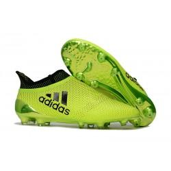 Scarpe da Calcio Adidas X 17+ Purespeed FG Uomo Verde Nero