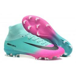 Nuove Scarpa da calcio Nike Mercurial Superfly V FG Rosa Blu Nero