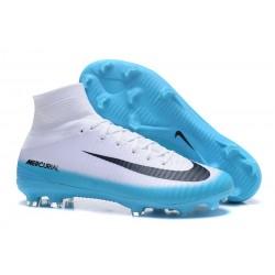 Nuove Scarpa da calcio Nike Mercurial Superfly V FG Bianco Blu Nero